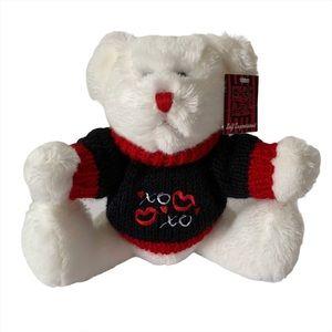 Valentine Teddy Bear Stuffed Animal Plush White